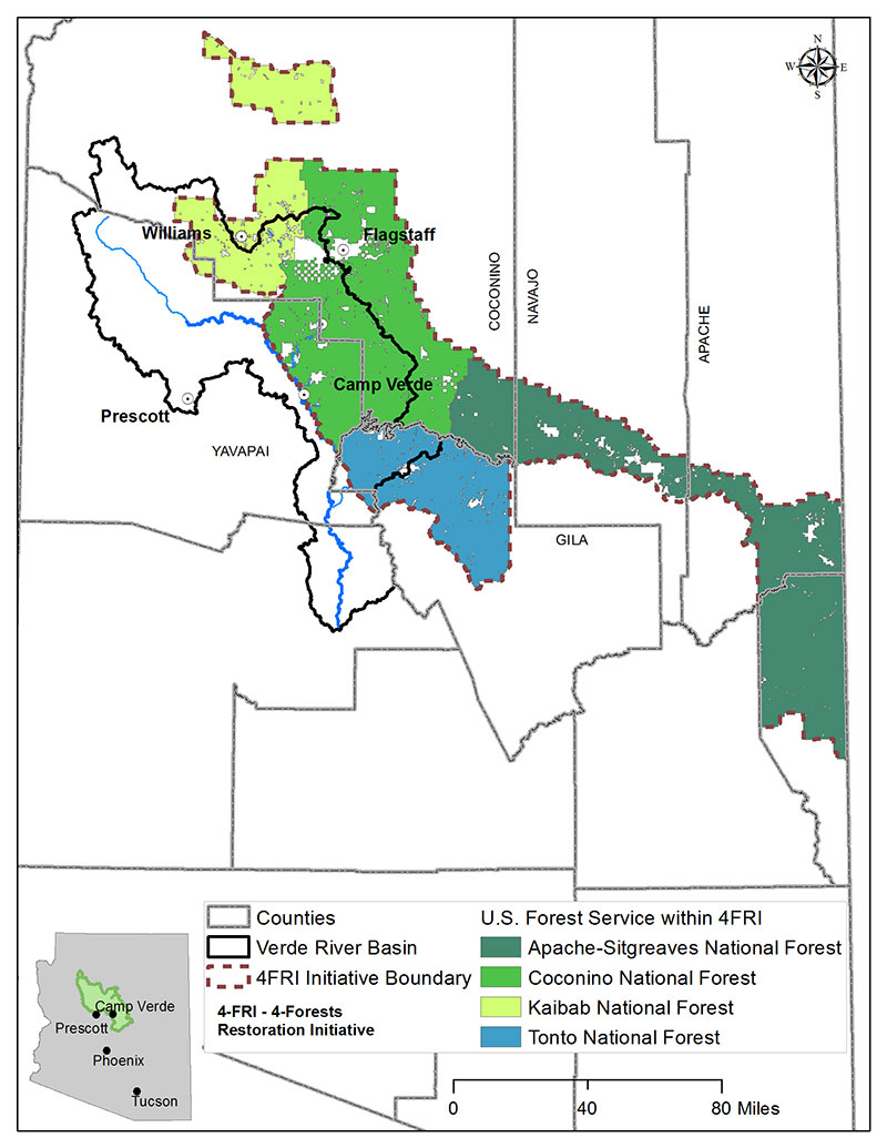 Four Forest Restoration Initiative Map