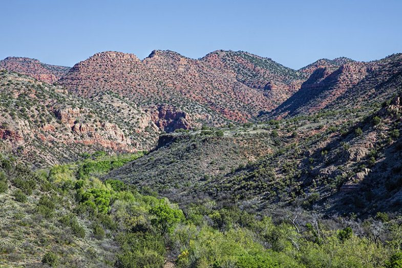 Sycamore Canyon Wilderness in central Arizona.