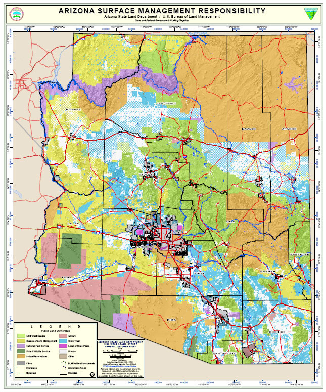 Map of State Lands in Arizona - ASLD