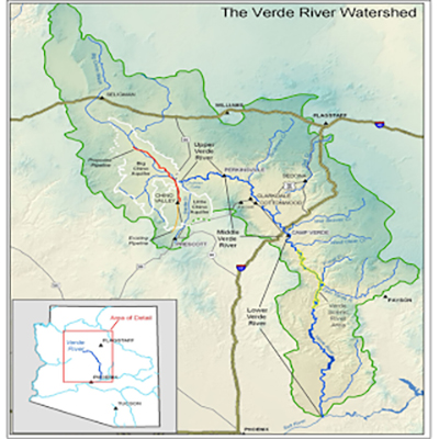 Verde River Watershed Map