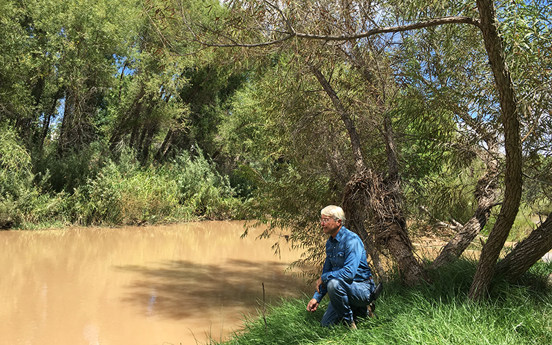 Chip Norton at the Verde River